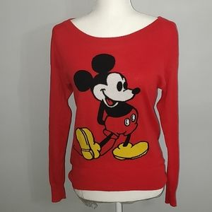 Disney red Mickey mouse sweater, size small